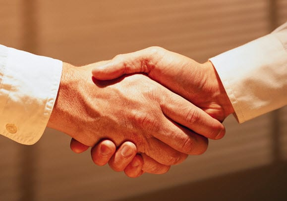 Hand Shake Between University and Industry