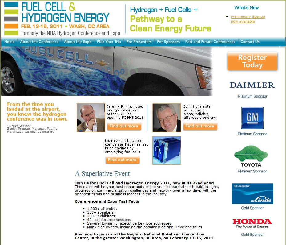 Hydrogen Energy Association Conference 2011