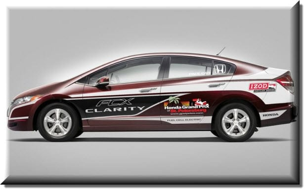 Honda hydrogen powered FCX Clarity