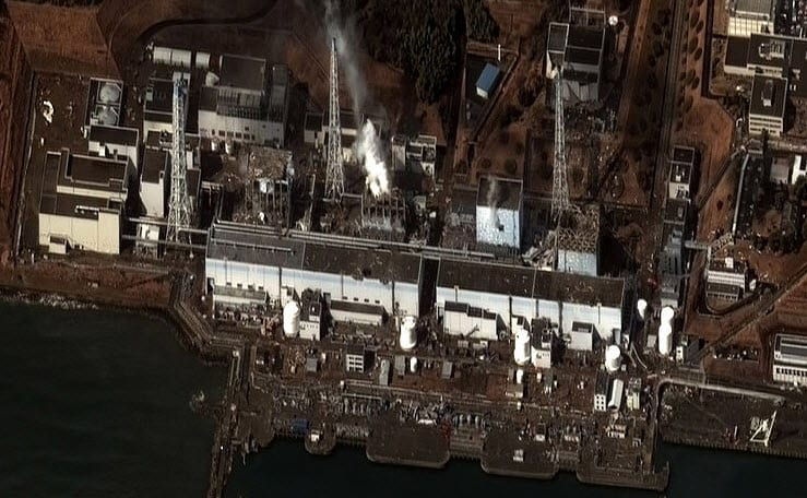 Hydrogen Fuel - Satelite Image of Fukushima Plant Damaged on March 16th