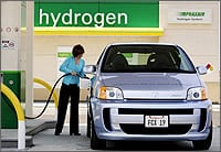 Hydrogen fuel vehicle