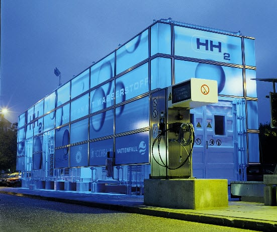 A Sample Picture of Hydrogen Fueling Station Hamberg Germany