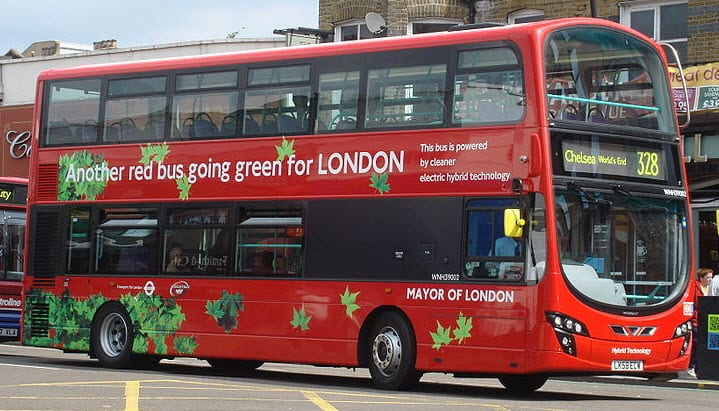 Hybrid London Double Decker Bus - Hydrogen Fuel