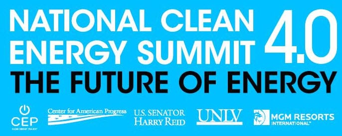 Senator Harry Reid attends the National Clean Energy Summit in Nevada, proclaims the importance of alternative energy