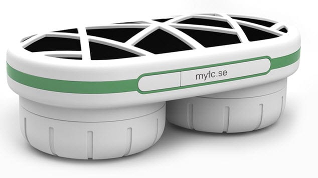 Example of mobile hydrogen power - myfc portable, designed to charge mobile devices