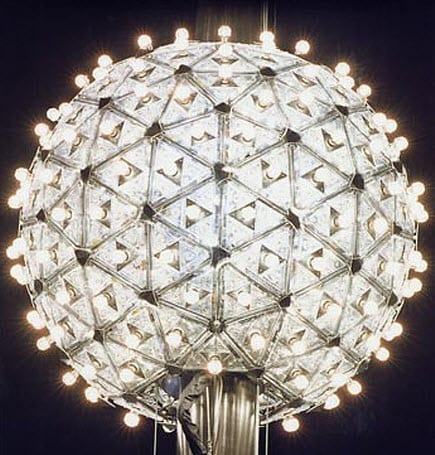 Times Square's New Year's Eve Ball powered by energy-efficient light bulbs from Philips Lighting
