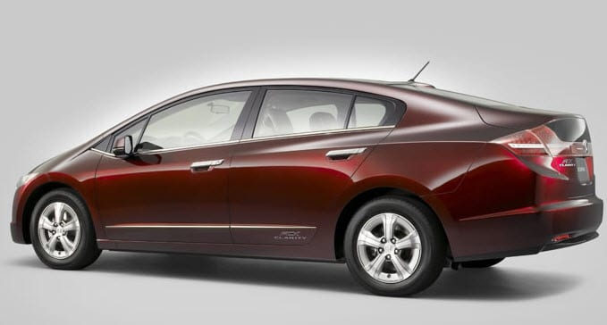 hydrogen powered vehicles - Honda FCX Clarity