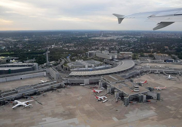 Massive solar array built at the Dusseldorf International Airport