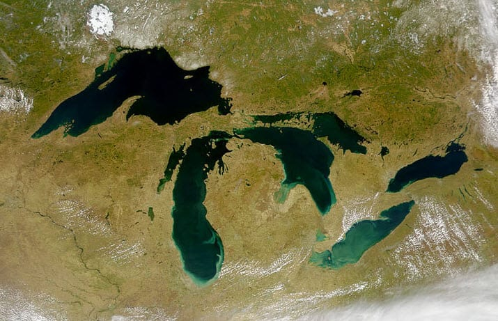 Great Lakes Satelite Image