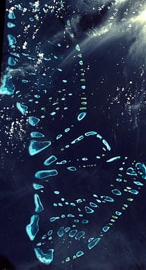 Maldives Satelite Image