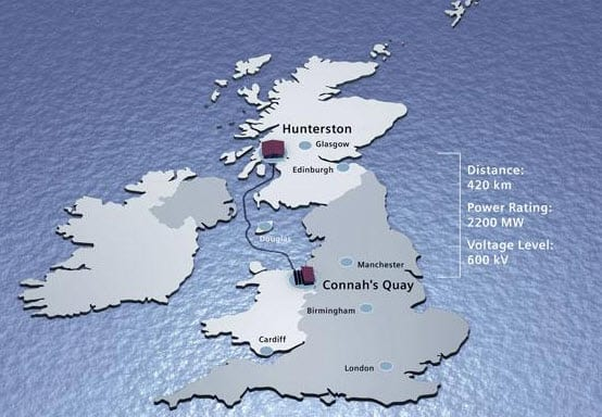 Scotland and England to be connected by submarine energy grid