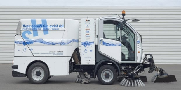 hydrogen powered street cleaning vehicles