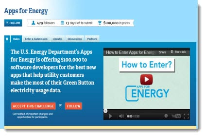 Energy apps contest screen shot