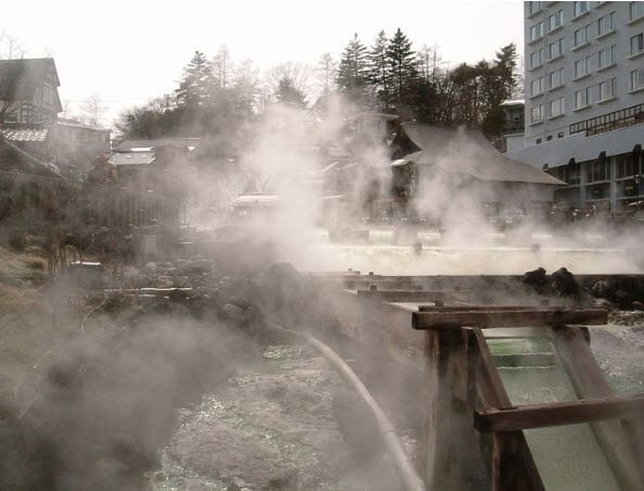 Kusatsu Onsen Japan Georthermal Energy