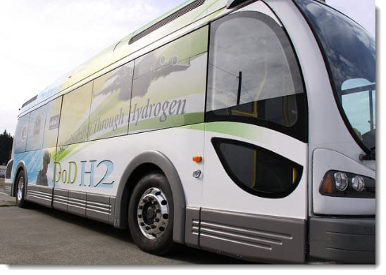 Joint Base Lewis-McChord received hydrogen-powered bus