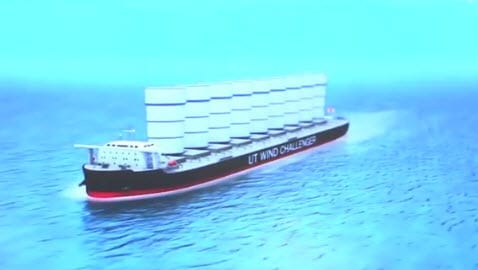 Giant metal sails could cut down pollution of cargo ships 1