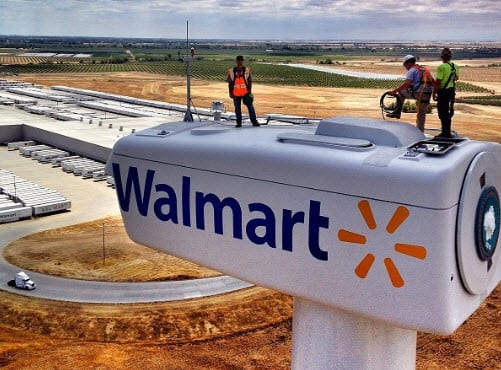 Wal-Mart sets ambitious renewable energy goals