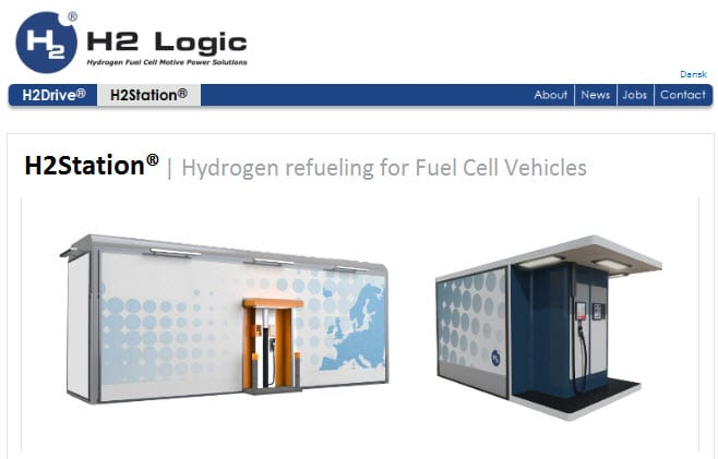 H2 Logic website preview for  hydrogen fuel stations