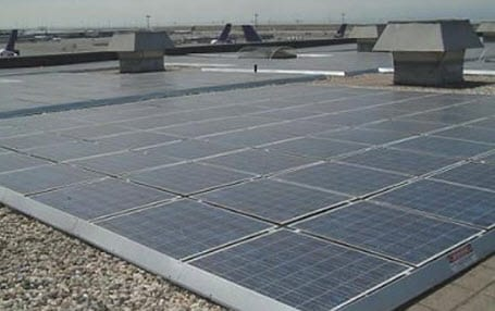 Rooftop solar energy panels