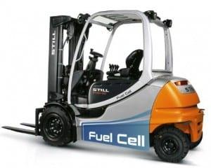 Hydrogen fuel forklifts