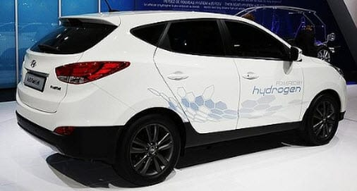 Hydrogen Fuel Hyundai Tucson ix35 hydrogen powered car