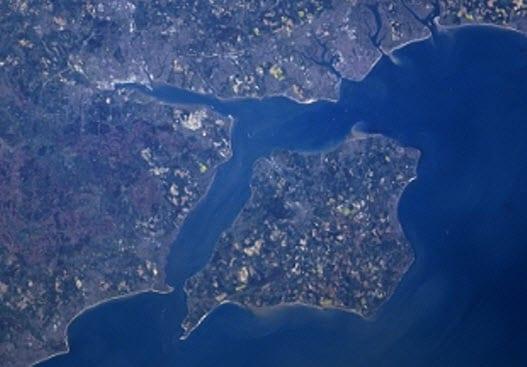 Satelite photo of Isle of Wight ecoisland - Wikipedia