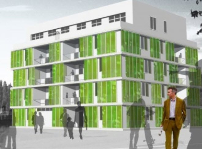 World's first algae powered-building called BIQ