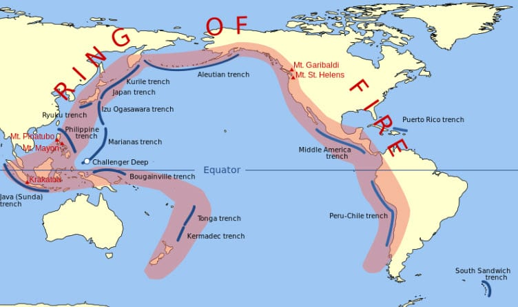 Geothermal Energy around the Ring of fire areas