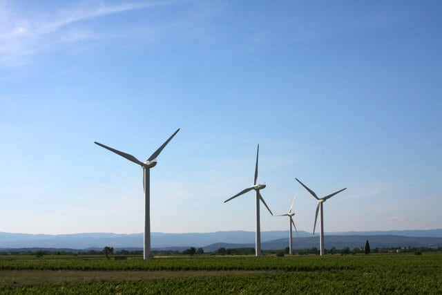 Wind energy contracts issued by the Army Corps of Engineers