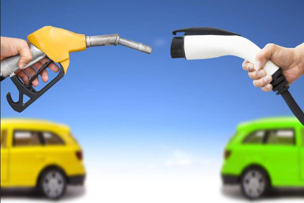 Alternative fuel sources - electric and hydrogen fuel cars