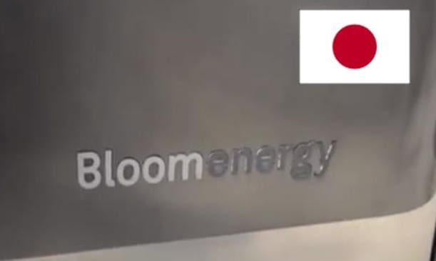 Bloom Energy hydrogen fuel cell installed in Japan