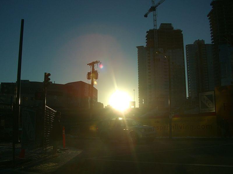 Solar Energy - Sun in Winter