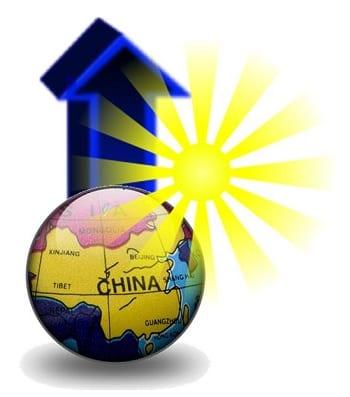 China solar energy capacity fast growing