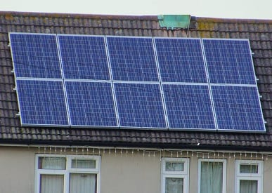 Renewable Energy - Solar Panels on Roof