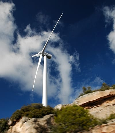 Wind Energy - Turbine on Hill