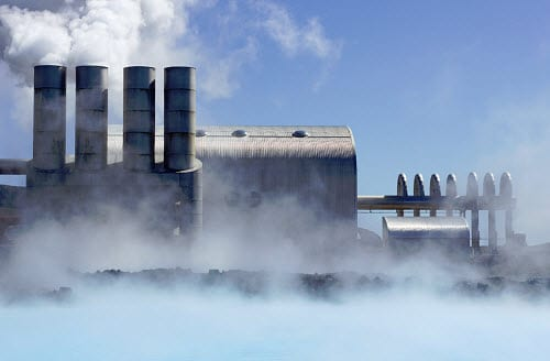 geothermal power - hybrid power plant