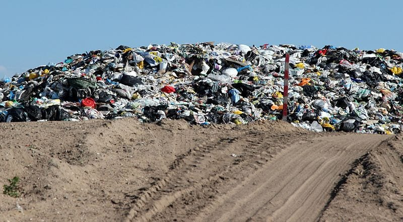 Landfill Gas - Garbage in landfill