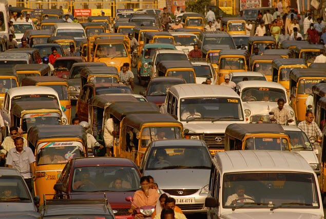 Electric Cars - India Traffic