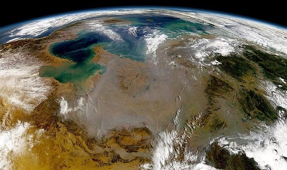 Alternative Energy - pollution over eastern China viewed from space