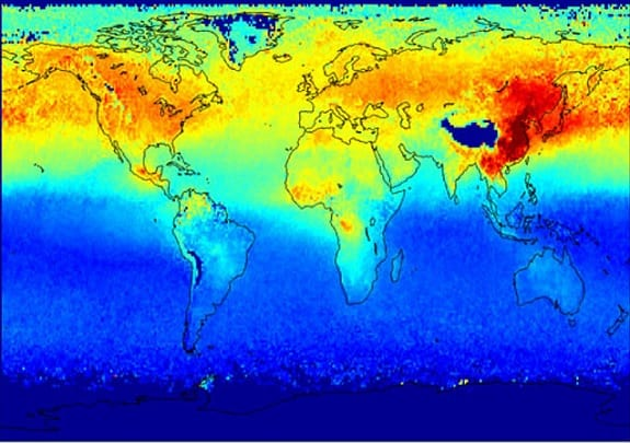 Climate Change - map
