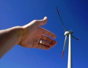 wind turbine energy - UK green power increase