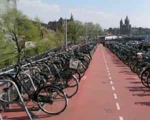 Solar Road - Bikes in Amsterdam