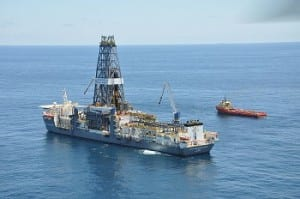 Fracking - deepwater drilling rig in Gulf of Mexico