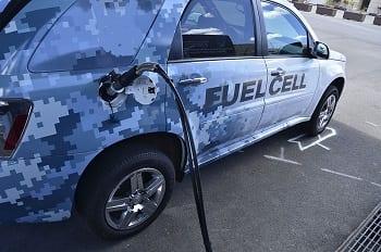 Car fueling up at Hydrogen Fuel Station