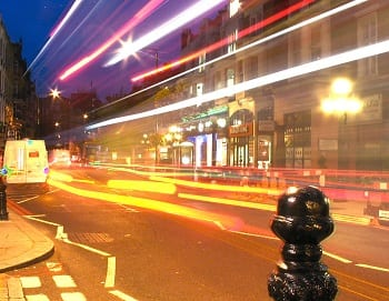Hydrogen Fuel Infrastructure - London street at night