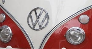 Hydrogen Fuel - Volkswagen logo on vehicle