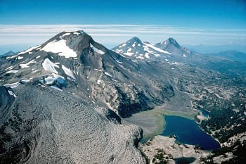 Geothermal Energy - Image of Three Sisters Volcanoes, Oregon