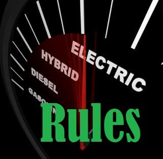 Electric Vehicles - Rules