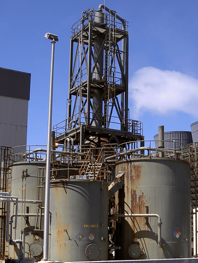 Geothermal Power - Stretford reactor Sonoma Calpine 3 Plant at the Geysers