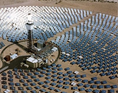 Solar Energy - Solar One power plant in Mojave Desert, California